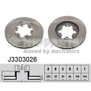 NIPPARTS J3303026 Тормозной диск Киа Беста