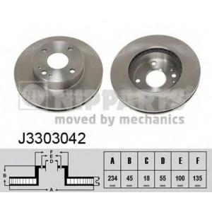 Тормозной диск j3303042 nipparts - MAZDA MX-5 I (NA) кабрио 1.6