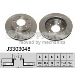 NIPPARTS J3303048 Диск гальмівний