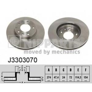 NIPPARTS J3303070 Диск гальмівний