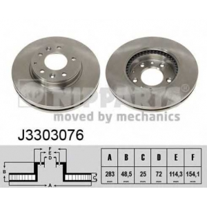 NIPPARTS J3303076 Тормозной диск