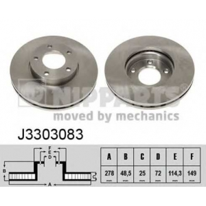 NIPPARTS J3303083 Тормозной диск