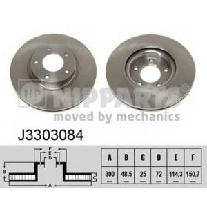 NIPPARTS J3303084 Диск гальмівний