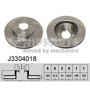 NIPPARTS J3304018 Диск гальмівний