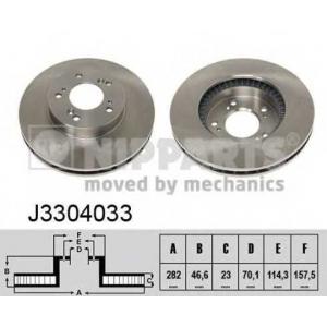 NIPPARTS J3304033 Тормозной диск