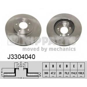 NIPPARTS J3304040 Диск гальмівний