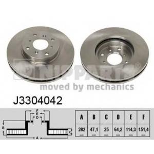 NIPPARTS J3304042 Диск гальмівний