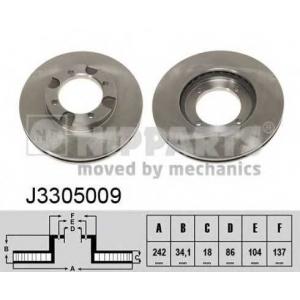 NIPPARTS J3305009 Диск гальмівний