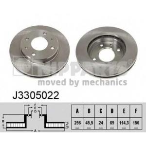 NIPPARTS J3305022 Диск гальмівний