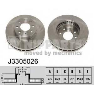NIPPARTS J3305026 Диск гальмівний