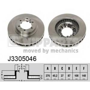 NIPPARTS J3305046 Тормозной диск