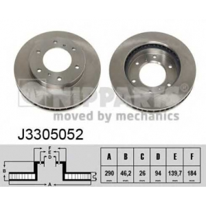 NIPPARTS J3305052 Тормозной диск