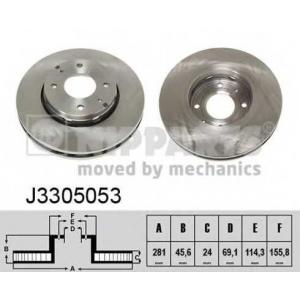 NIPPARTS J3305053 Диск гальмівний