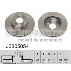 NIPPARTS J3305054 Тормозной диск