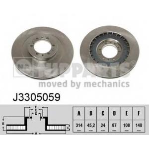 NIPPARTS J3305059 Диск гальмівний