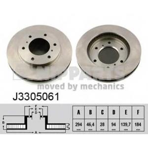 NIPPARTS J3305061 Тормозной диск