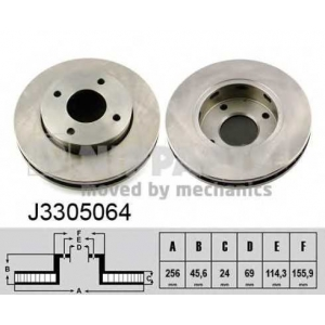 NIPPARTS J3305064 Тормозной диск
