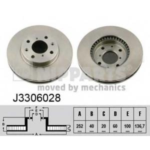 NIPPARTS J3306028 Диск гальмівний
