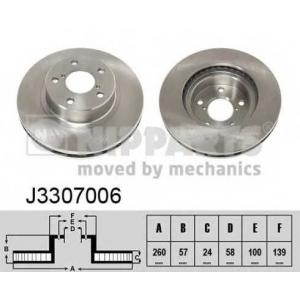 NIPPARTS J3307006 Тормозной диск