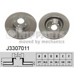 NIPPARTS J3307011 Диск гальмівний
