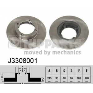 NIPPARTS J3308001 Тормозной диск Дэу Тико