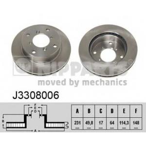 NIPPARTS J3308006 Диск гальмівний