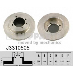 NIPPARTS J3310505 Гальмiвнi диски