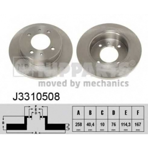 NIPPARTS J3310508 Гальмiвнi диски