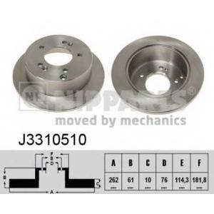 NIPPARTS J3310510 Тормозной диск