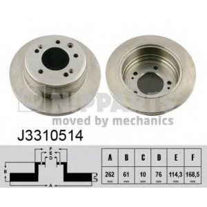 NIPPARTS J3310514 Тормозной диск
