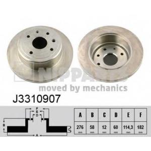 NIPPARTS J3310907 Диск гальмівний
