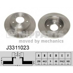 NIPPARTS J3311023 Тормозной диск Инфинити