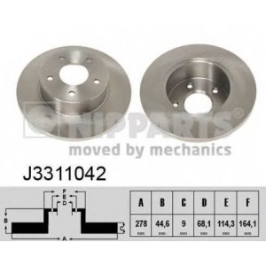 NIPPARTS J3311042 Диск гальмівний