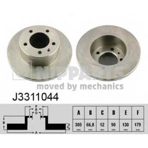 NIPPARTS J3311044 Тормозной диск