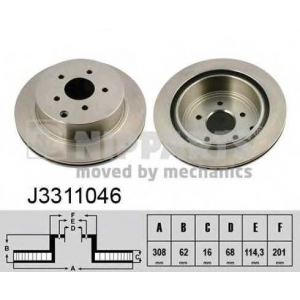 NIPPARTS J3311046 Тормозной диск