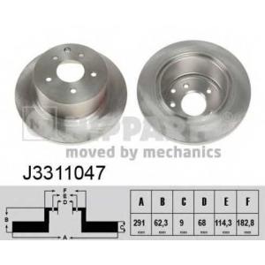 NIPPARTS J3311047 Тормозной диск