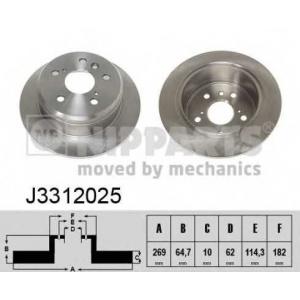 NIPPARTS J3312025 Тормозной диск
