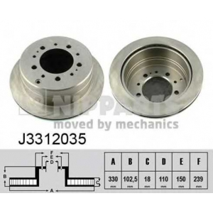 NIPPARTS J3312035 Диск гальмівний