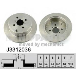NIPPARTS J3312036 Тормозной диск