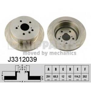 NIPPARTS J3312039 Диск гальмівний
