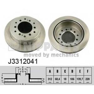 NIPPARTS J3312041 Диск гальмівний