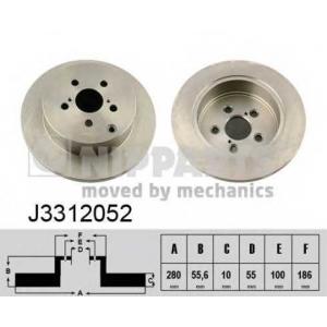 NIPPARTS J3312052 Тормозной диск