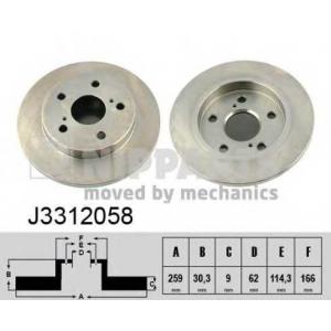 NIPPARTS J3312058 Тормозной диск