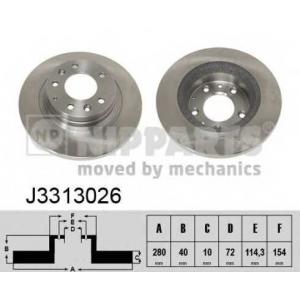 NIPPARTS J3313026 Диск гальмівний
