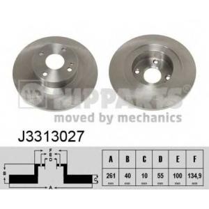 NIPPARTS J3313027 Тормозной диск