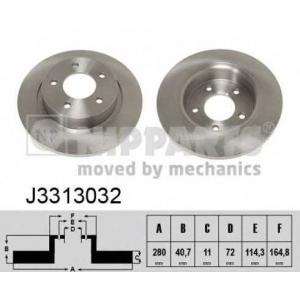 NIPPARTS J3313032 Гальмiвнi диски