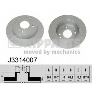 NIPPARTS J3314007 Тормозной диск