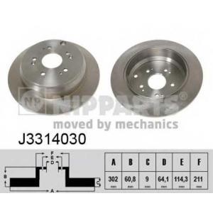 NIPPARTS J3314030 Диск гальмівний
