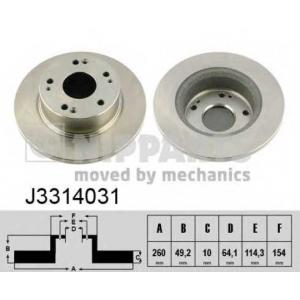 NIPPARTS J3314031 Тормозной диск
