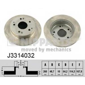 NIPPARTS J3314032 Тормозной диск